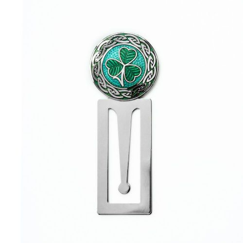 Bookmark Irish Shamrock Silver Plated Green Enamel Brand New and Boxed